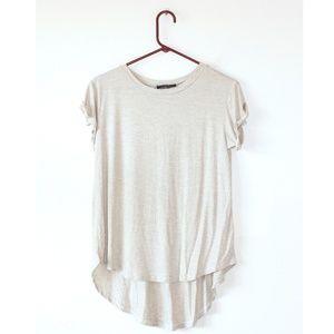 Nasty Gal Oatmeal Short Sleeve T Shirt S
